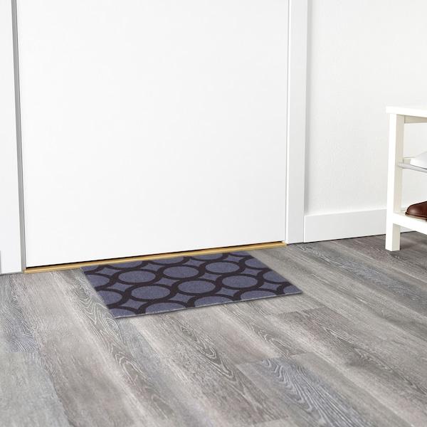 MEJLS Door mat, circle pattern grey/black, 40x60 cm