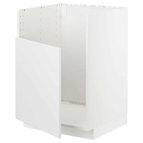 METOD خزانة قاعدة لحوض BREDSJÖN, أبيض/Kungsbacka فحمي, 60x60 سم