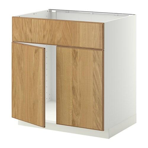 Metod Base Cabinet F Sink W 2 Doors Front White Hyttan