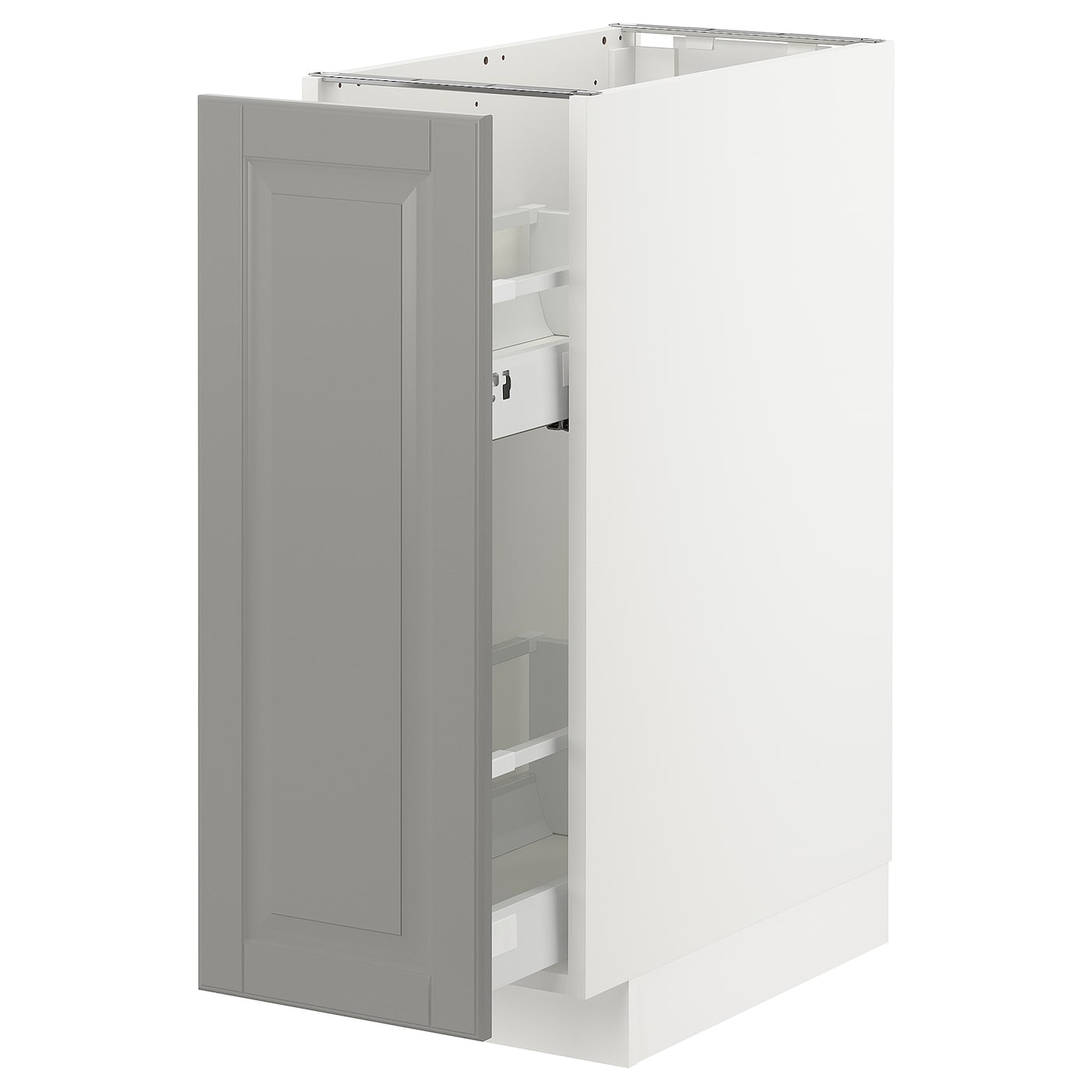 Base Cabinet Pull Out Int Fittings Metod White Bodbyn Grey