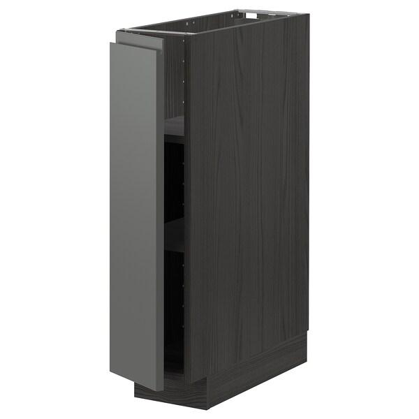 METOD base cabinet with shelves black/Voxtorp dark grey 20.0 cm 62.1 cm 88.0 cm 60.0 cm 80.0 cm
