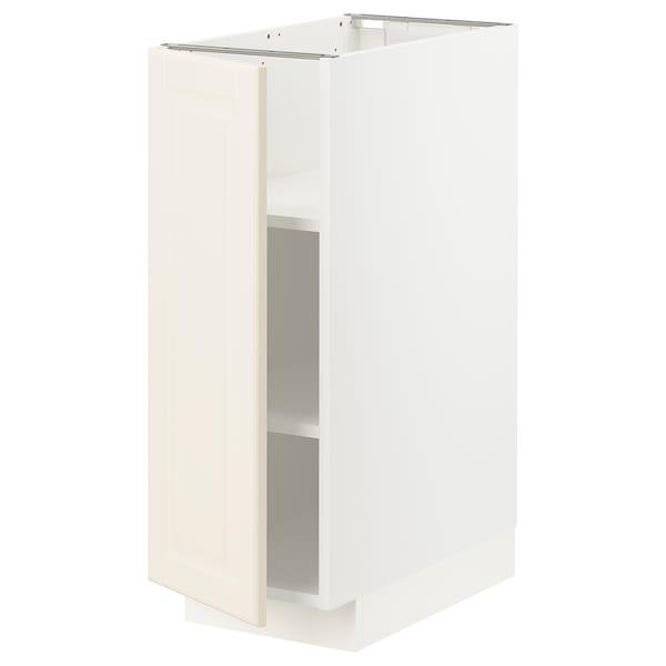 METOD خزانة قاعدة مع أرفف, أبيض/Bodbyn أبيض-عاجي, 30x60 سم