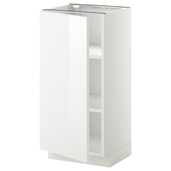 METOD خزانة قاعدة مع أرفف, أبيض/Ringhult أبيض, 40x37 سم