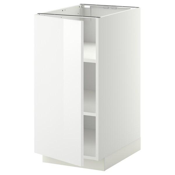 METOD خزانة قاعدة مع أرفف, أبيض/Ringhult أبيض, 40x60 سم