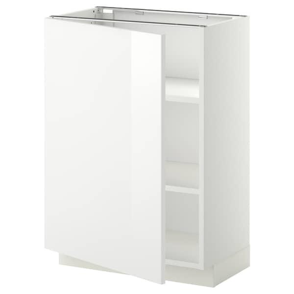 METOD خزانة قاعدة مع أرفف, أبيض/Ringhult أبيض, 60x37 سم