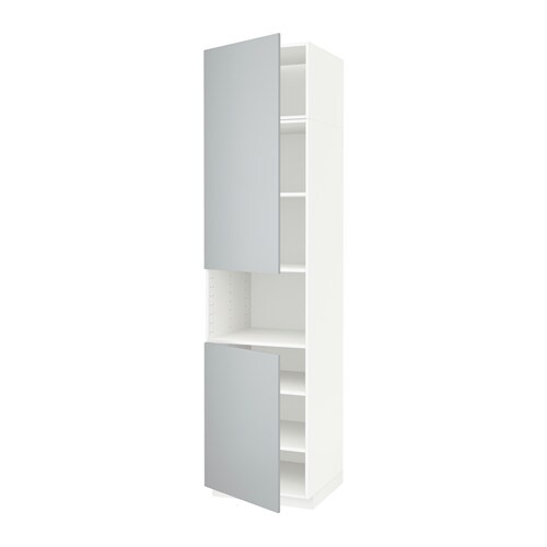 METOD High cab f micro w 2 doors/shelves - white, Veddinge ...