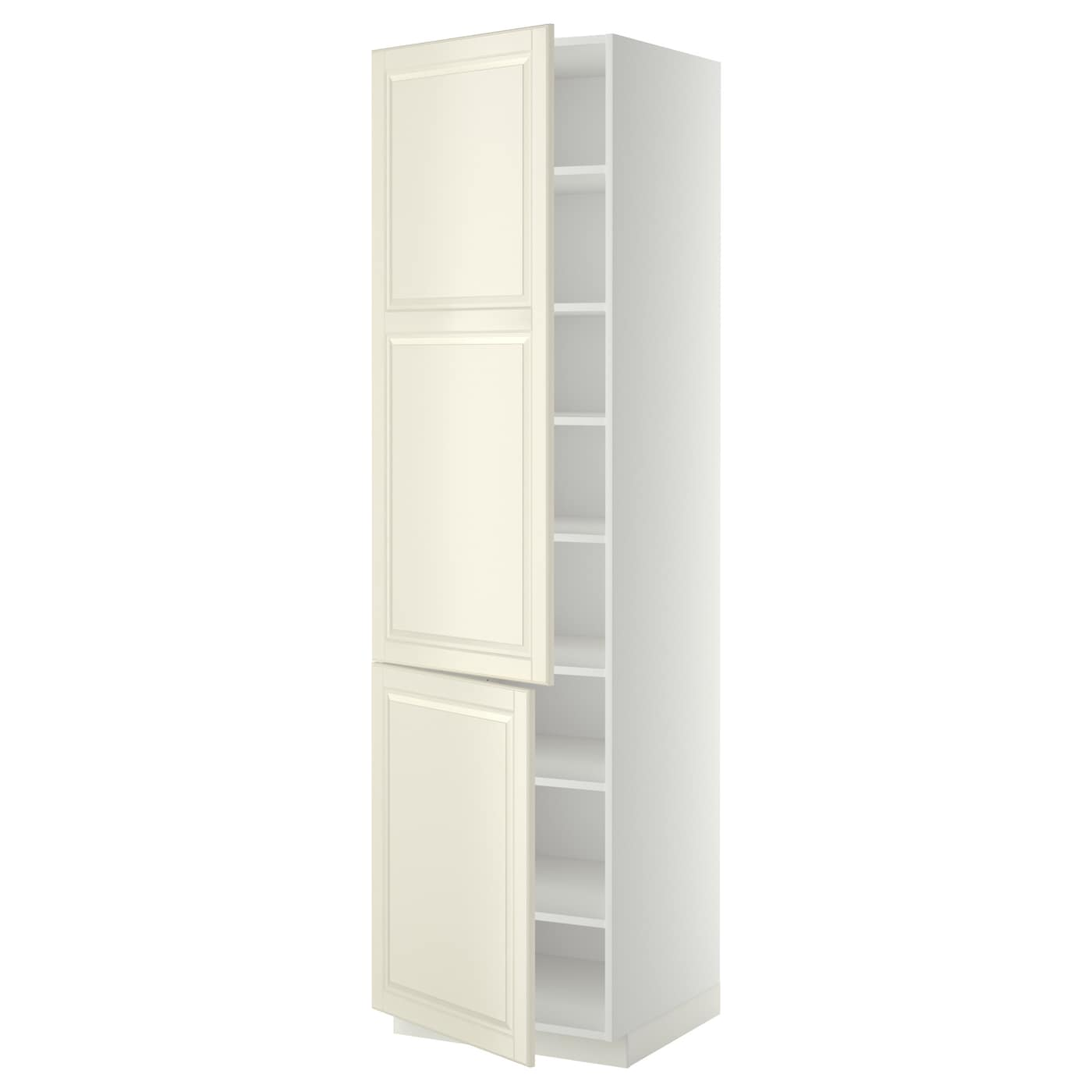 High Cabinet With Shelves 2 Doors Metod White Bodbyn Off White