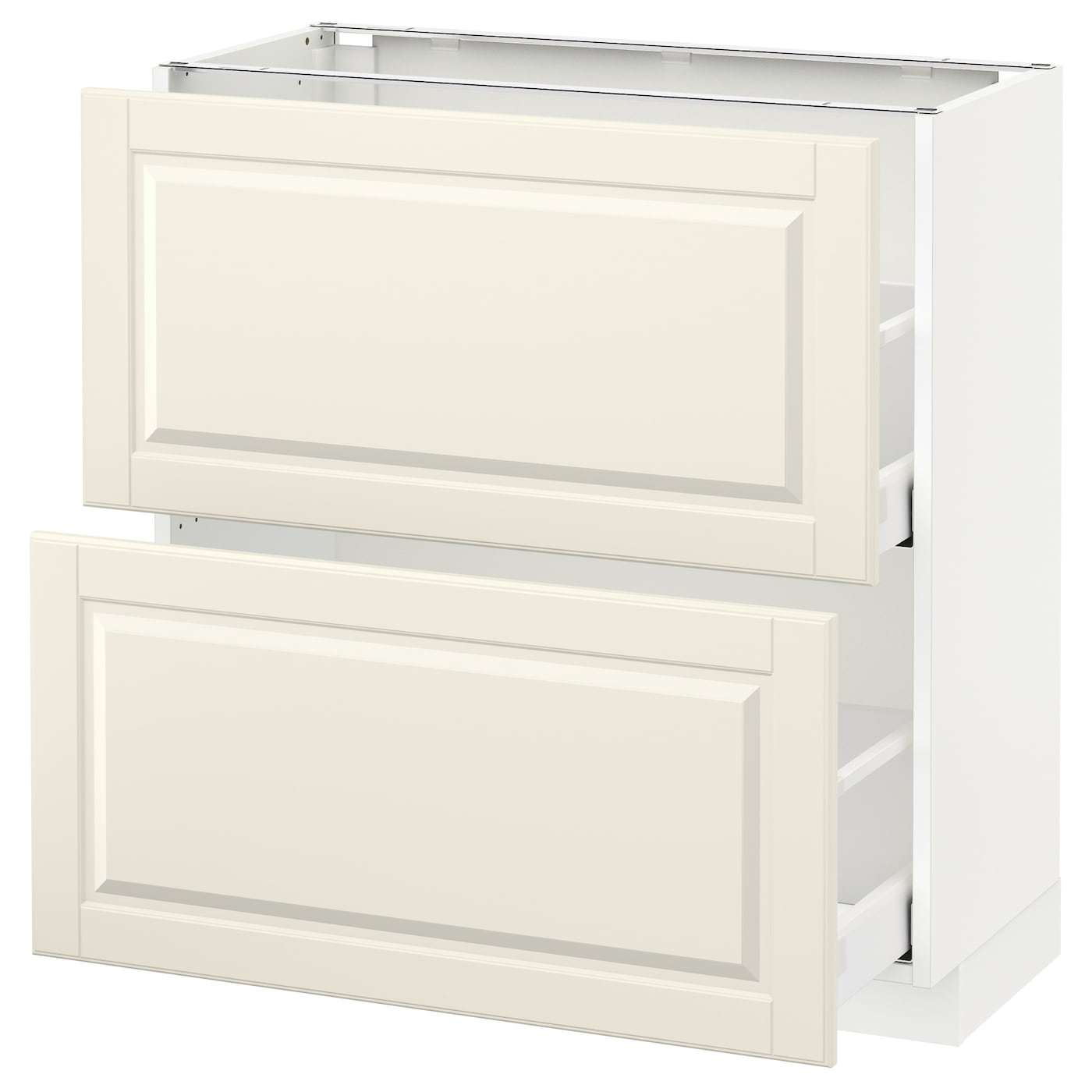 Base Cabinet With 2 Drawers Metod Maximera White Bodbyn Off White