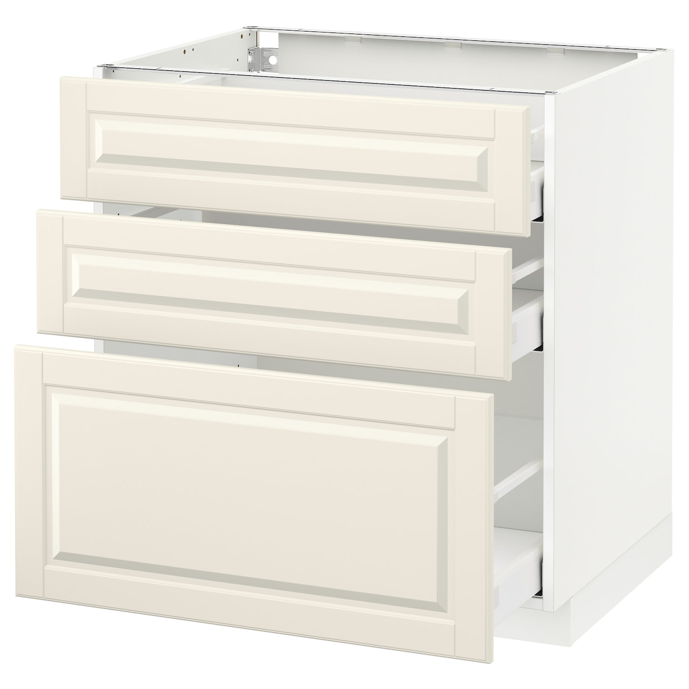 Base Cabinet With 3 Drawers Metod Maximera White Bodbyn Off White