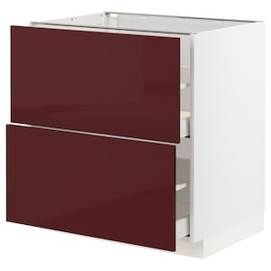 Front: Kallarp high-gloss dark red-brown.