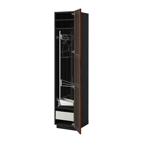 METOD / MAXIMERA High Cabinet With Cleaning Interior