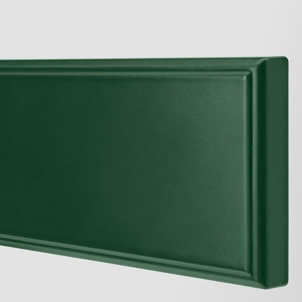 METOD / MAXIMERA خزانة حائط بابين زجاجية/2 أدراج, أسود/Bodbyn أخضر غامق, 80x100 سم