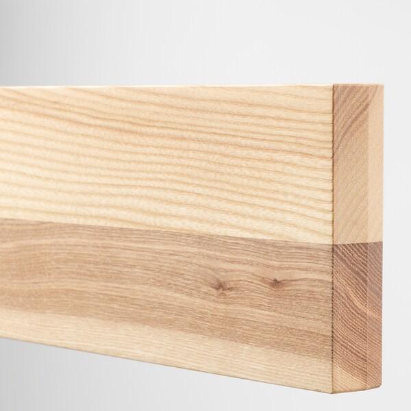 METOD / MAXIMERA خزانة حائط بابين زجاجية/2 أدراج, أبيض/Torhamn رماد, 60x100 سم