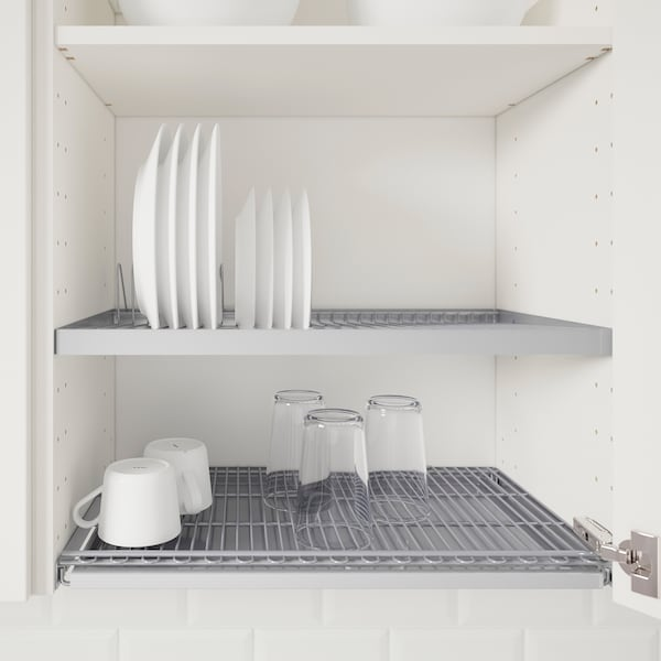 METOD / MAXIMERA خزانة قاعدة بابين/2 أدراج, أبيض/Askersund مظهر دردار خفيف, 60x100 سم