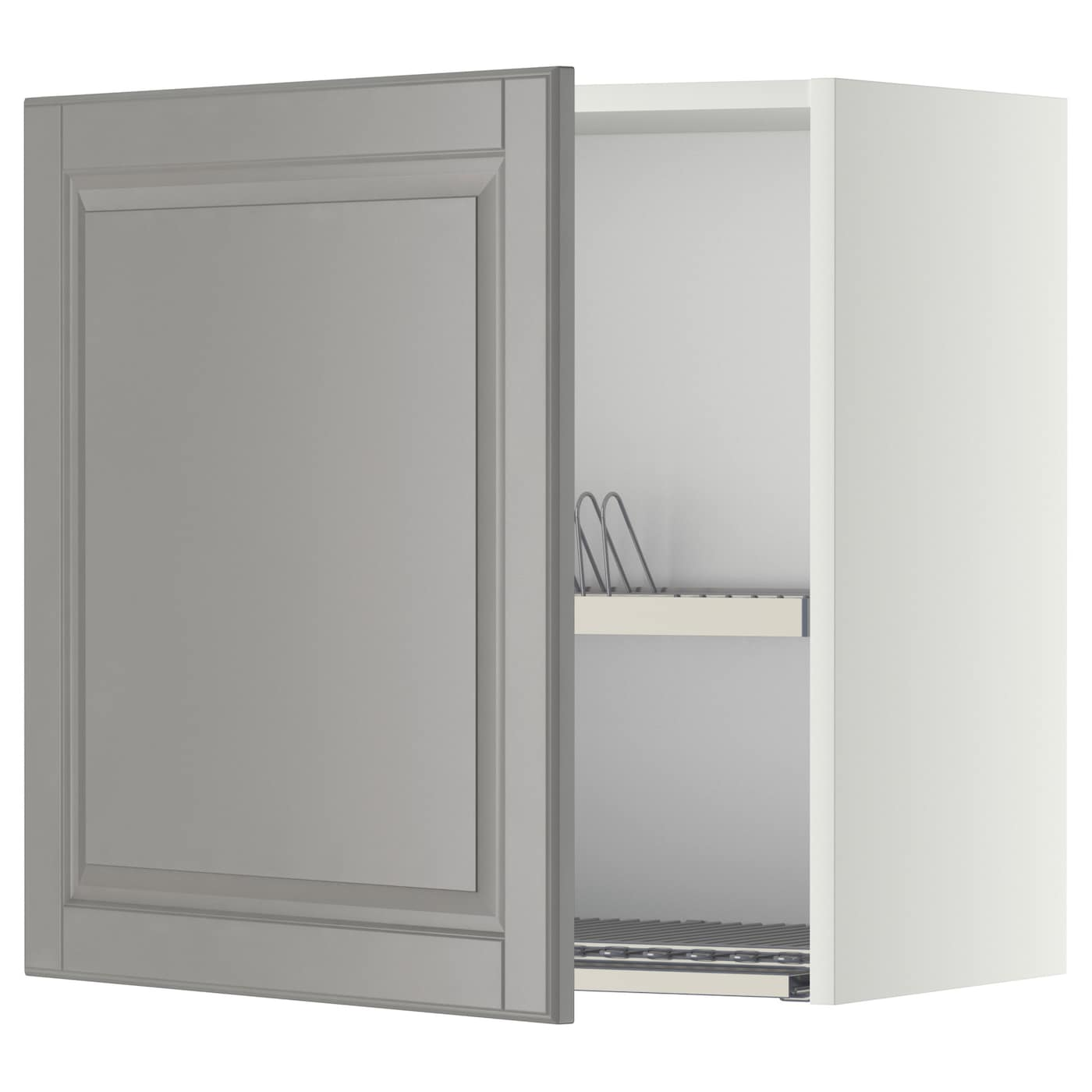 Wall Cabinet With Dish Drainer Metod White Bodbyn Grey