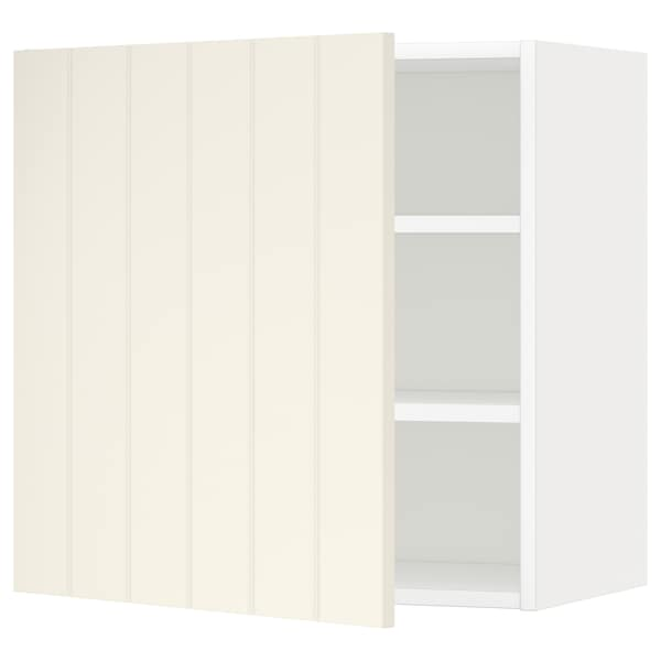 METOD Wall cabinet with shelves, white/Hittarp off-white, 60x60 cm