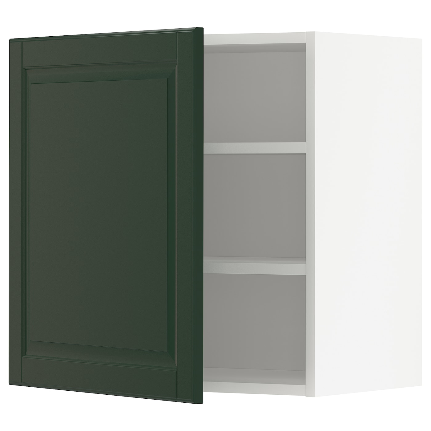 Wall Cabinet With Shelves Metod White Bodbyn Dark Green