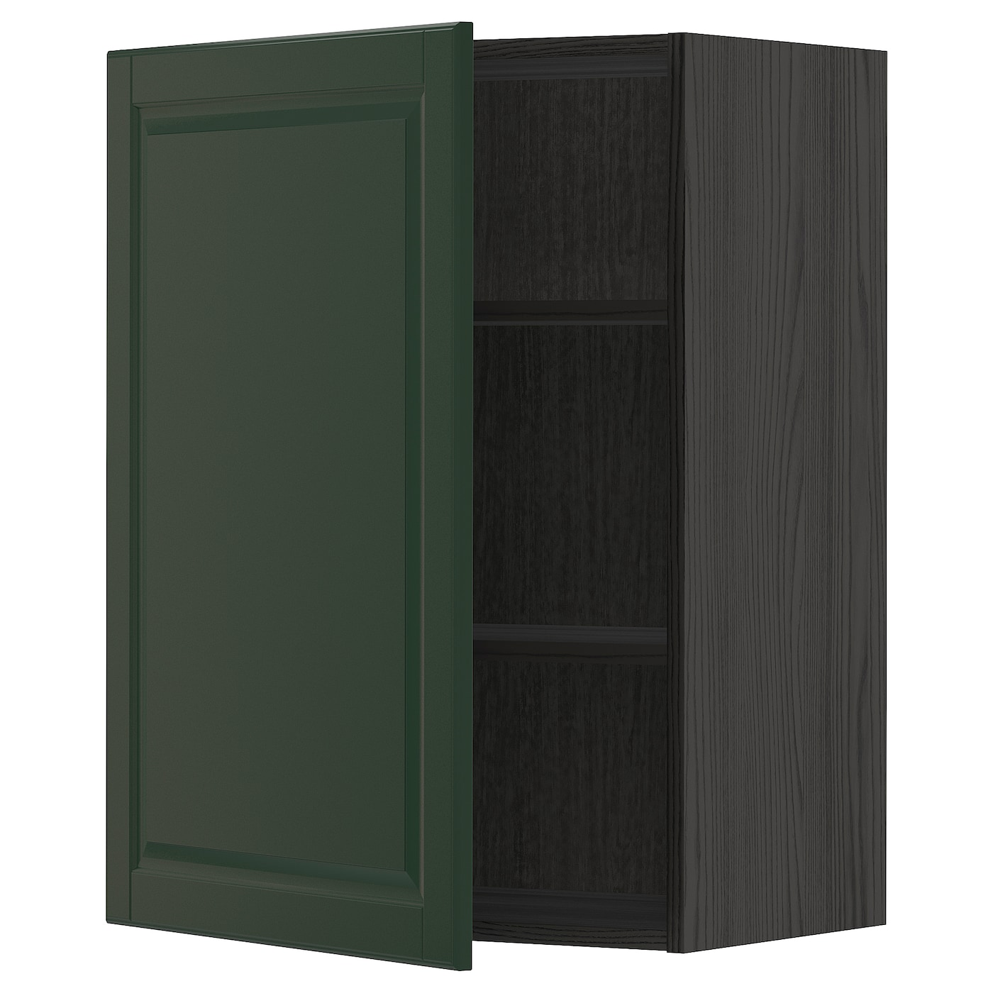 Wall Cabinet With Shelves Metod Black Bodbyn Dark Green