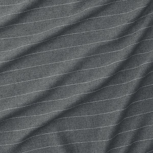 MILDRUN ستائر، 1 زوج, رمادي غامق/مخطط, 145x300 سم