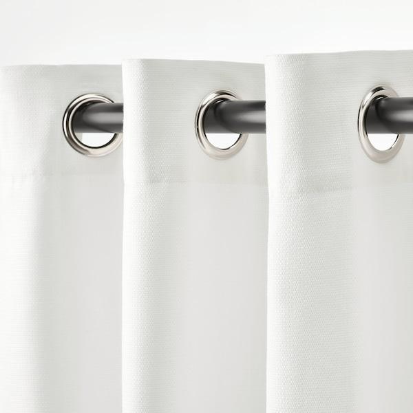 MOALINA ستائر، 1 زوج, أبيض, 145x300 سم