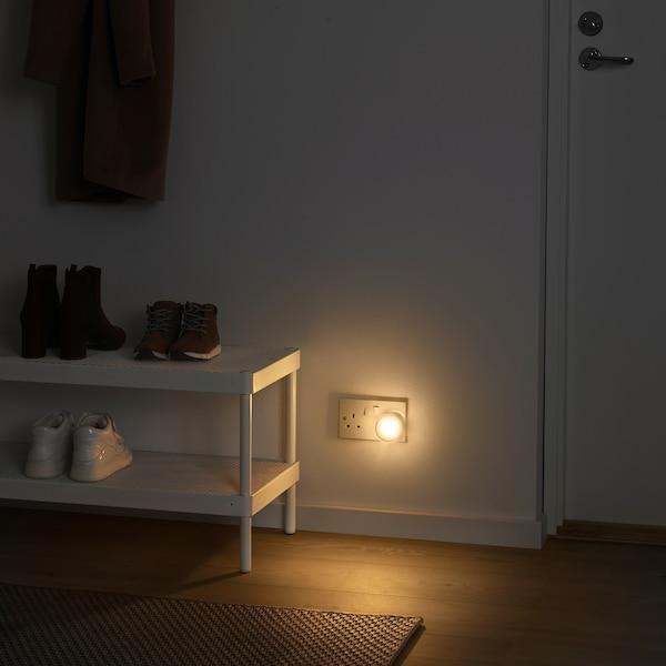 MÖRKRÄDD إضاءة ليلية LED مع حساس, أبيض