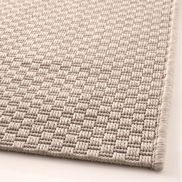 MORUM Rug flatwoven, in/outdoor, beige, 160x230 cm