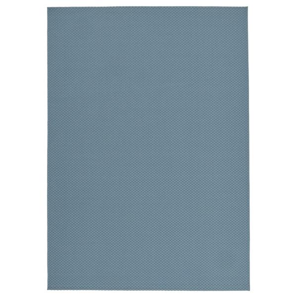 MORUM Rug flatwoven, in/outdoor, light blue, 160x230 cm