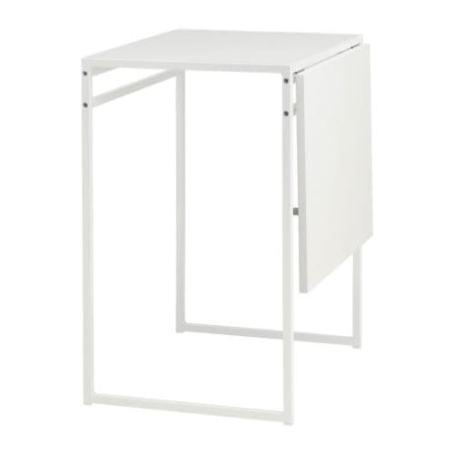 MUDDUS Drop-leaf table IKEA Sliding and folding drop-leaf; makes it easy to adjust the table size according to need and seats 1-2.