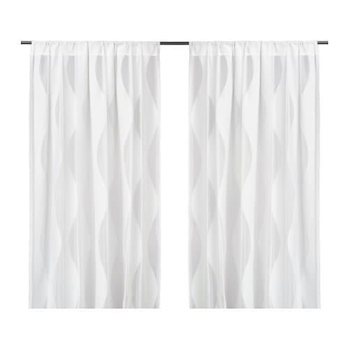 MURRUTA Net curtains, 1 pair, white