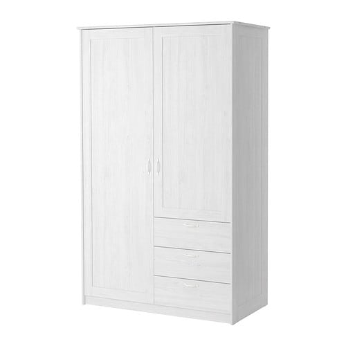 Ikea Garderobe Mit Schuhschrank ~ MUSKEN Wardrobe with 2 doors+3 drawers IKEA Adjustable shelves make it