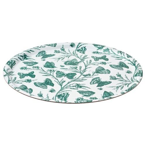 MUSTIGHET tray butterfly patterned 43 cm