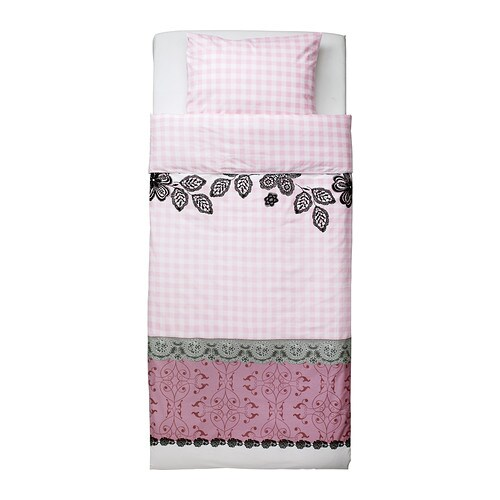 MYSTISK Quilt cover and pillowcase IKEA Cotton, soft and nice against your child's skin.