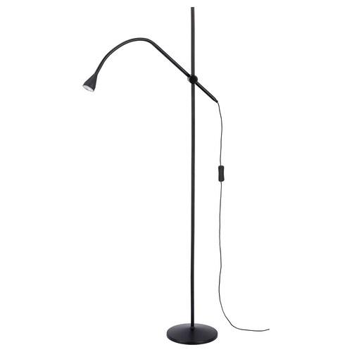 NÄVLINGE LED floor/read lamp black 220 lm 147 cm 20 cm 2.0 m 1.9 W 25000 hr