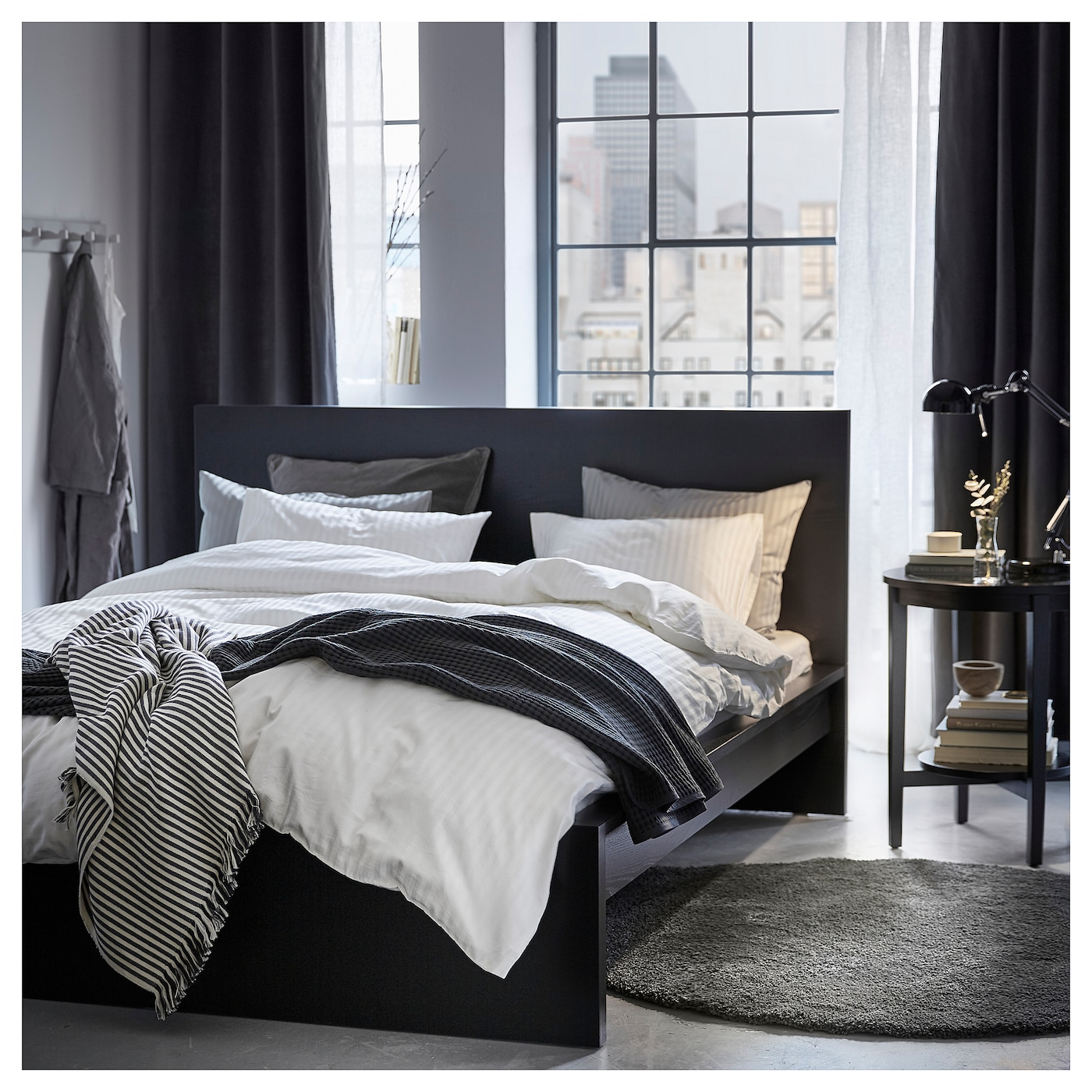 NATTJASMIN Quilt cover and 6 pillowcases - white 640x660/6x6 cm