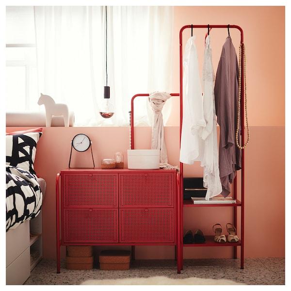 NIKKEBY حامل ملابس, أحمر, 80x170 سم