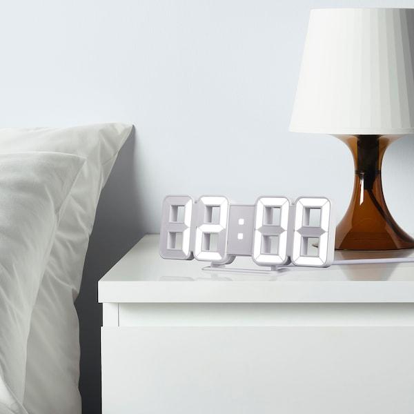 NOLLÅTTA Alarm clock, white