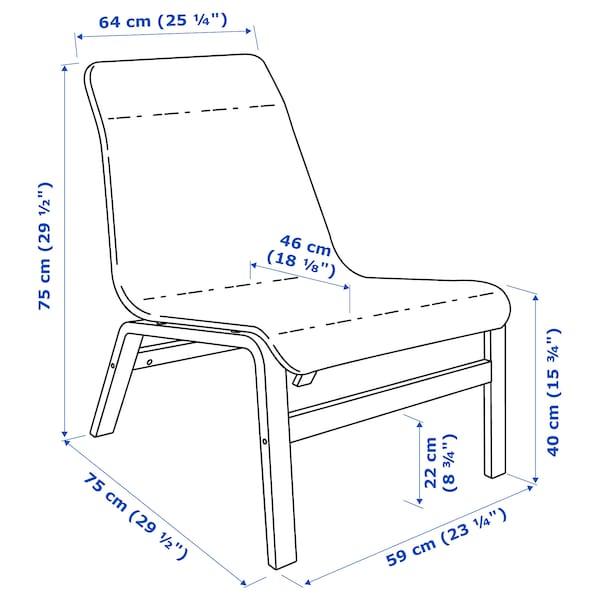 NOLMYRA كرسي مريح, قشرة بتولا/رمادي