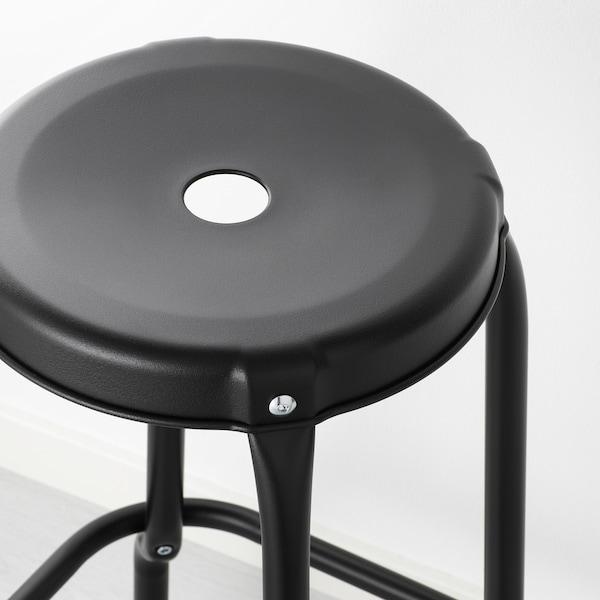 NORDEN / RÅSKOG طاولة ومقعدين, بتولا/أسود, 89/152 سم