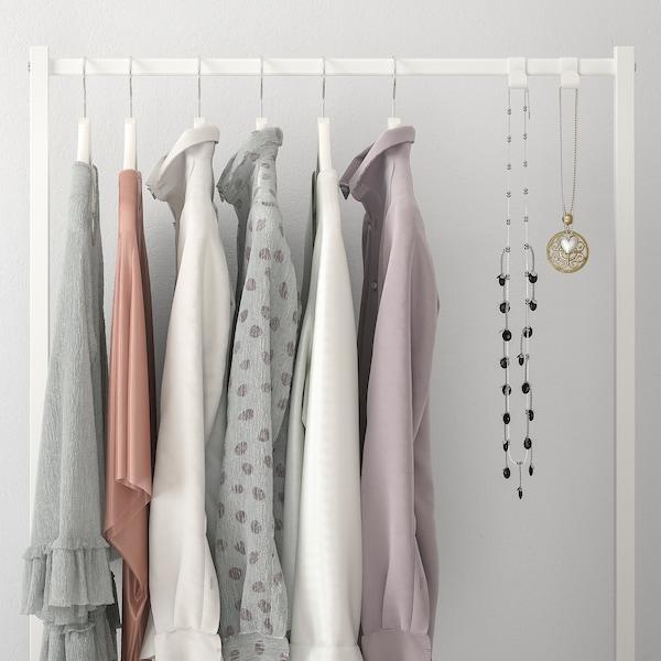 NORDLI وحدة إضافة لماسورة تعليق ملابس, أبيض, 80x115 سم