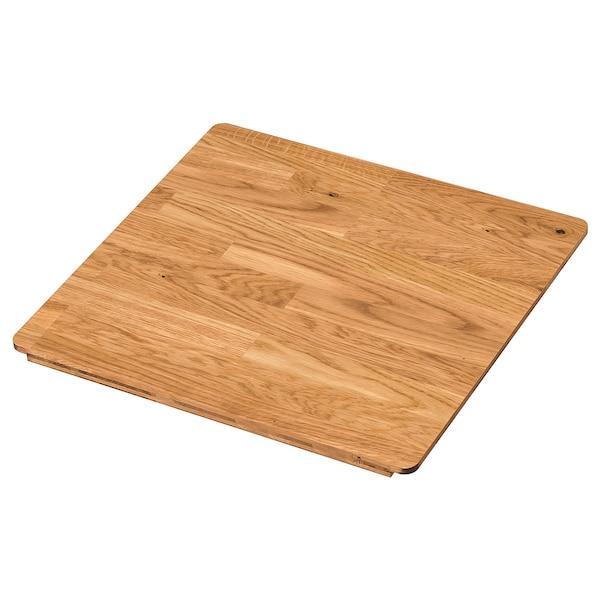 NORRSJÖN Chopping board, oak, 44x42 cm