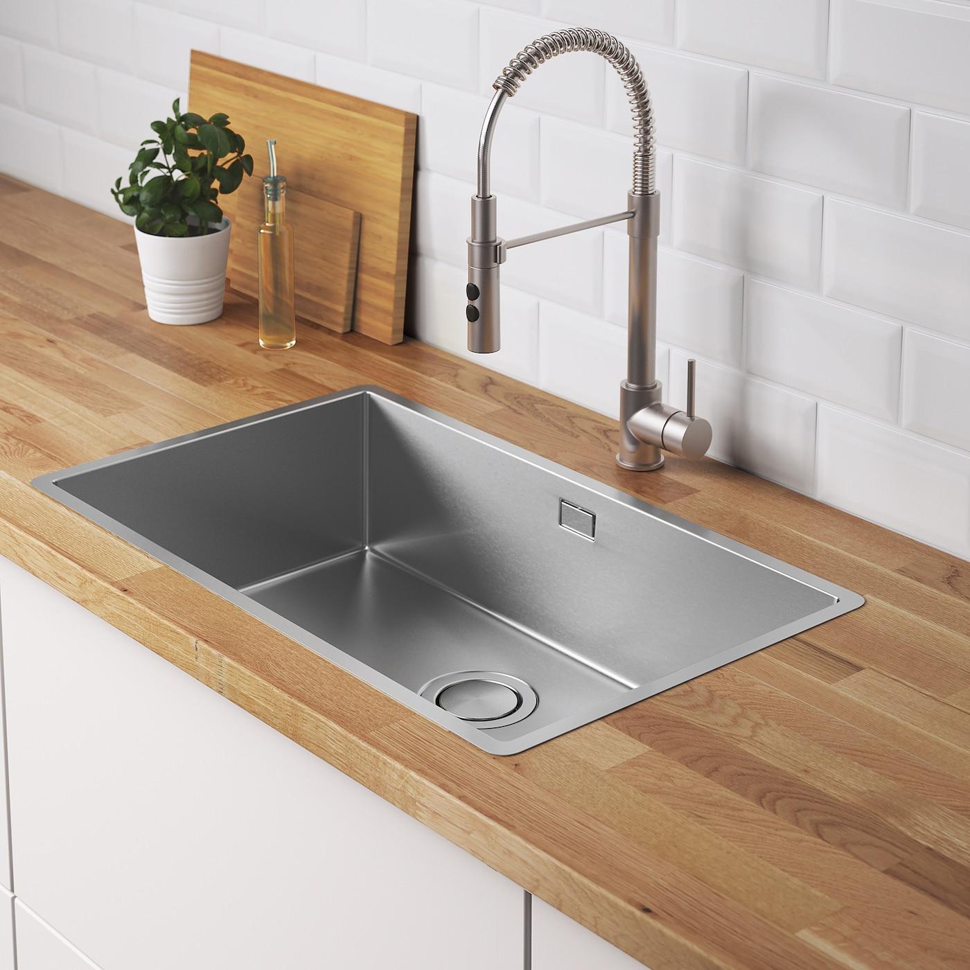 NORRSJÖN Inset sink, 4 bowl - stainless steel 4x4 cm