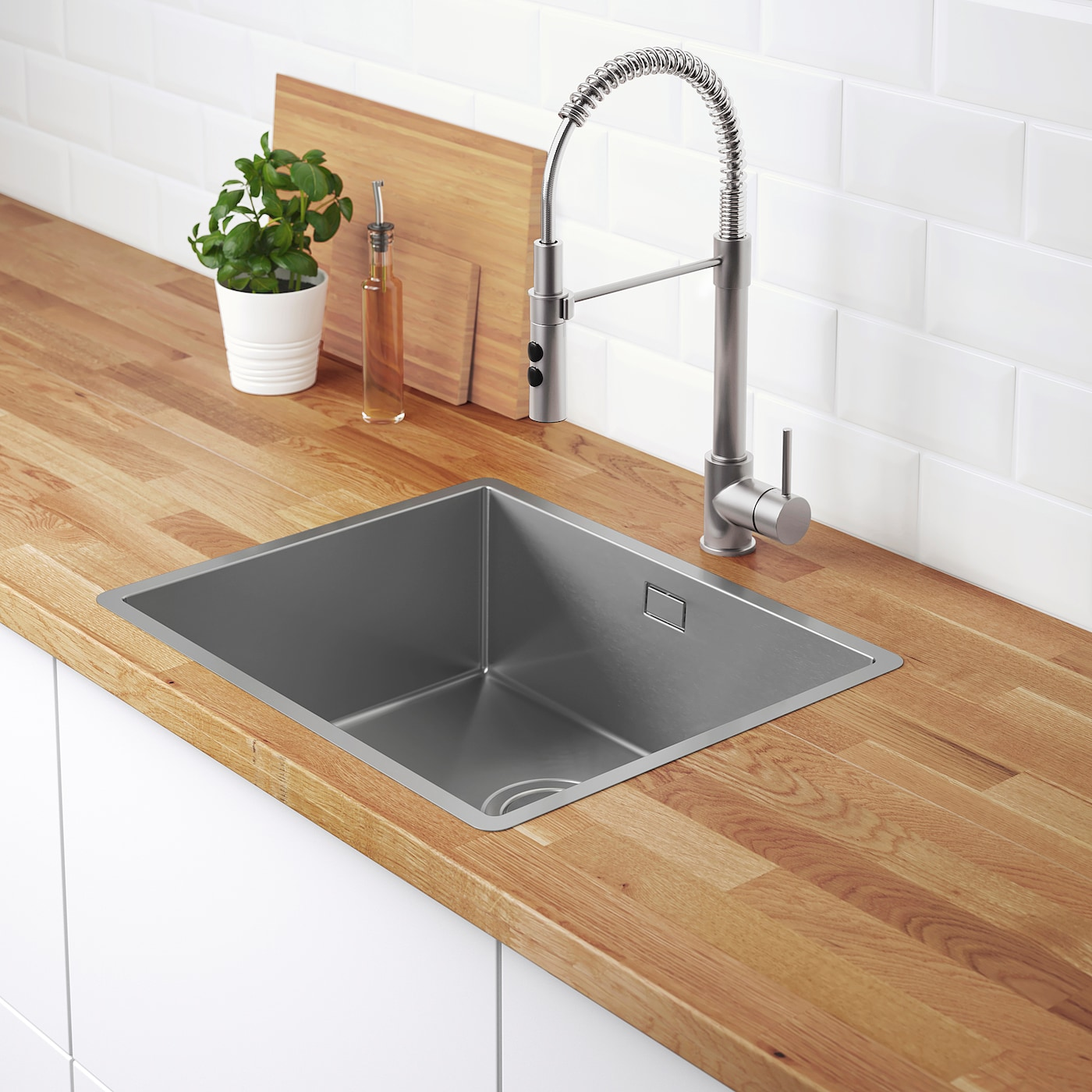 NORRSJÖN Inset sink, 10 bowl - stainless steel 10x10 cm