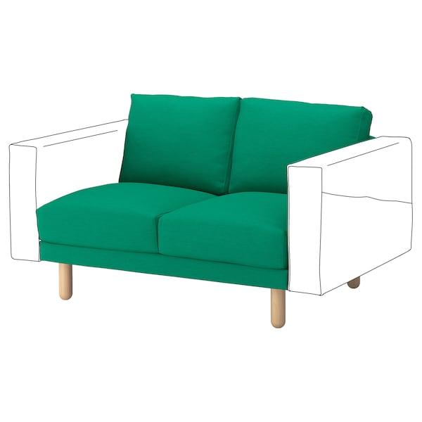 NORSBORG 2-seat section, Edum bright green/birch