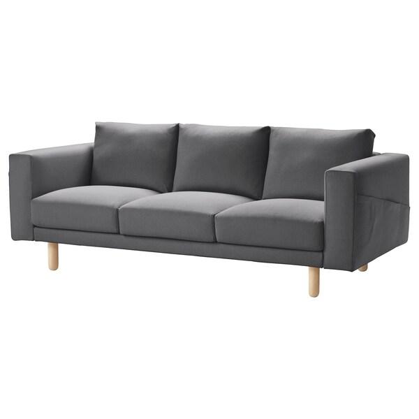 Pleasing 3 Seat Sofa Norsborg Finnsta Dark Grey Dark Grey Birch Machost Co Dining Chair Design Ideas Machostcouk