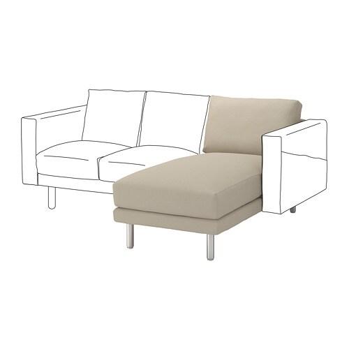 norsborg chaise longue section edum beige metal ikea. Black Bedroom Furniture Sets. Home Design Ideas
