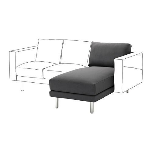 norsborg chaise longue section finnsta dark grey metal ikea. Black Bedroom Furniture Sets. Home Design Ideas