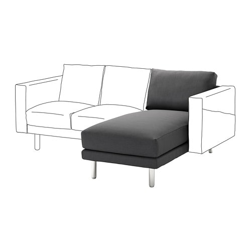 norsborg chaise longue section finnsta dark grey metal ikea. Black Bedroom Furniture Sets. Home Design Ideas
