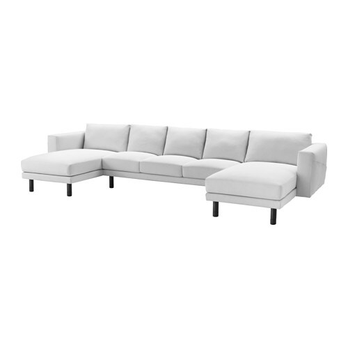norsborg 3 seat sofa with 2 chaise longues finnsta white grey ikea. Black Bedroom Furniture Sets. Home Design Ideas