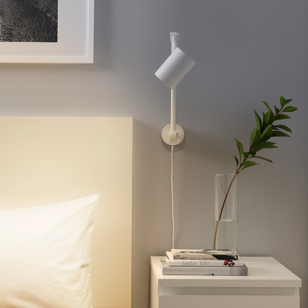 NYMÅNE مصباح مكتب/حائط, أبيض