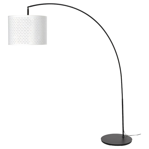 Verbazingwekkend Buy NYMÖ / SKAFTET Floor lamp, arched - white, brass-colour online VZ-68